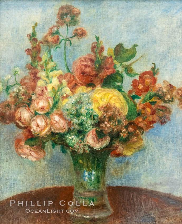 """Fleurs dans un vase, Pierre-Auguste Renoire, Musee de l""""Orangerie. Musee de lOrangerie, Paris, France, natural history stock photograph, photo id 35633"""
