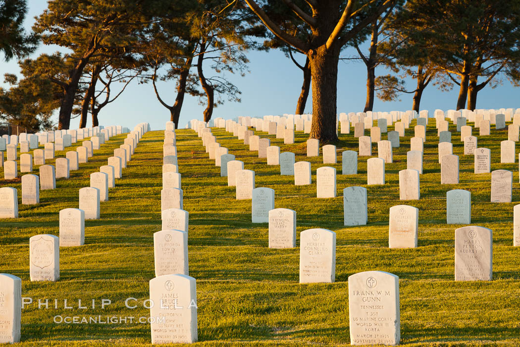 Fort Rosecrans National Cemetery. San Diego, California, USA, natural history stock photograph, photo id 26590