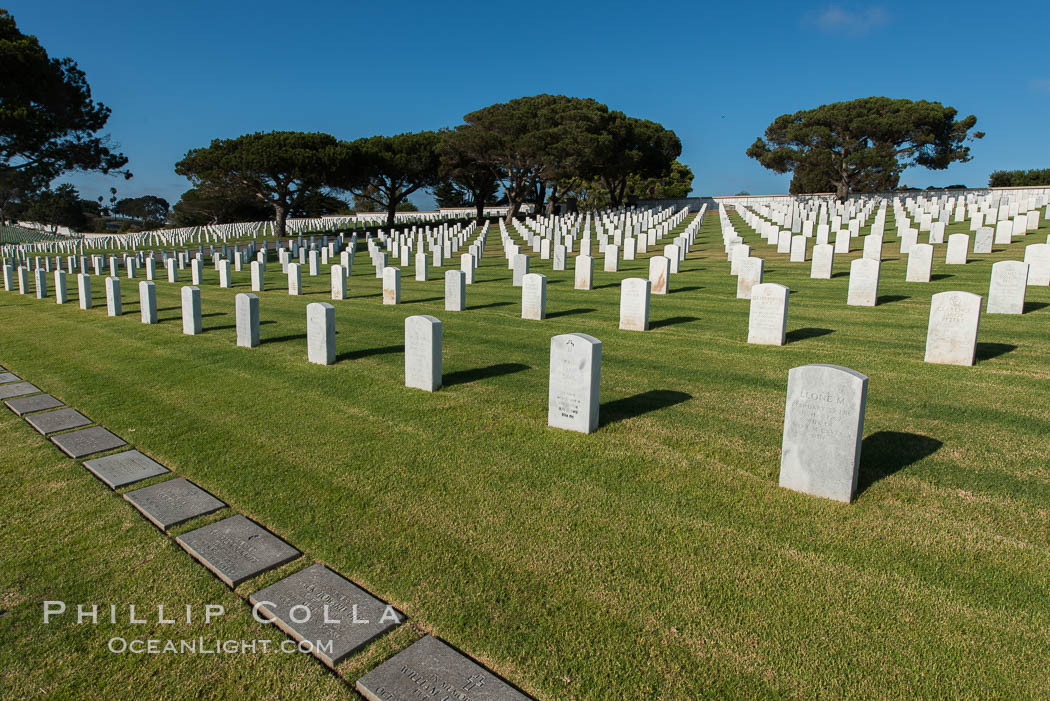 Fort Rosecrans National Cemetery. San Diego, California, USA, natural history stock photograph, photo id 27882