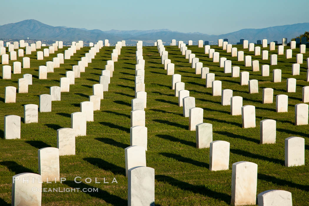 Fort Rosecrans National Cemetery. San Diego, California, USA, natural history stock photograph, photo id 26592