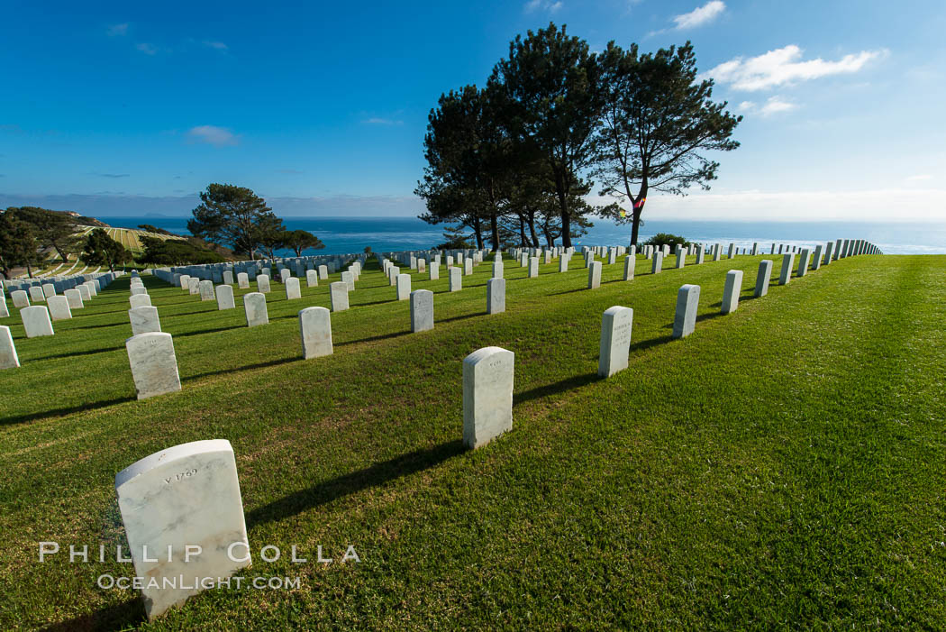 Fort Rosecrans National Cemetery. San Diego, California, USA, natural history stock photograph, photo id 27884