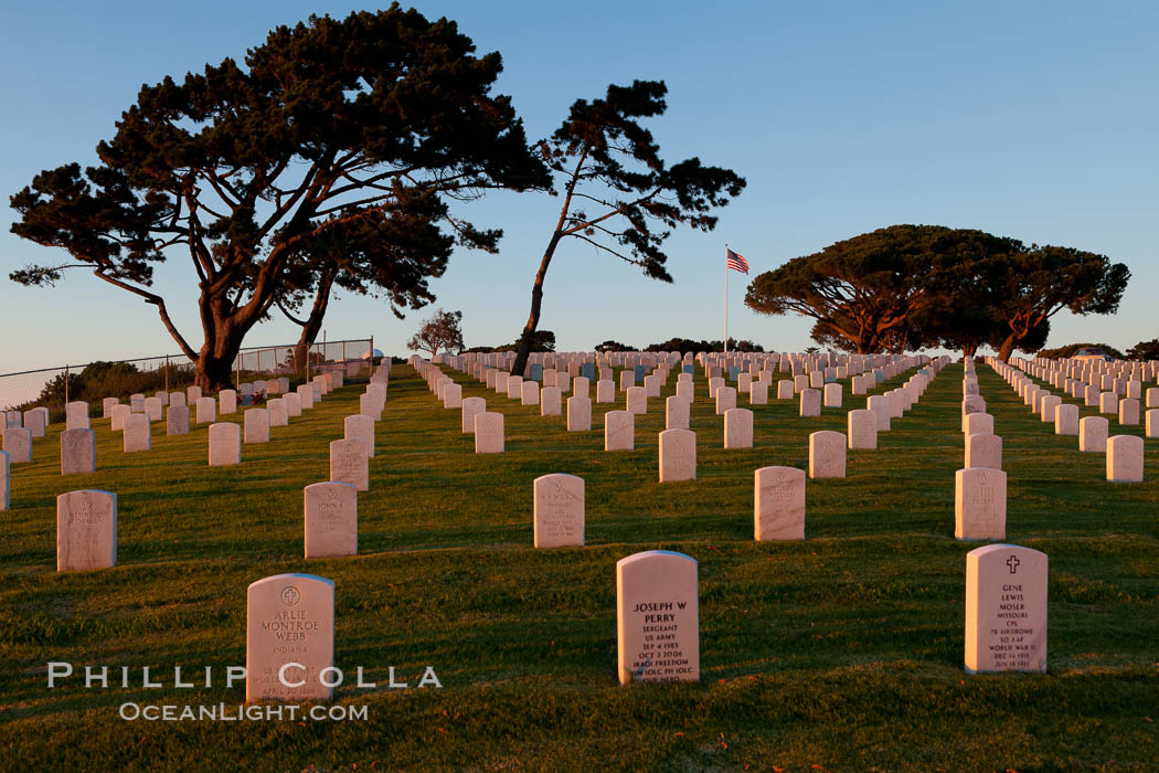 Fort Rosecrans National Cemetery. San Diego, California, USA, natural history stock photograph, photo id 26587