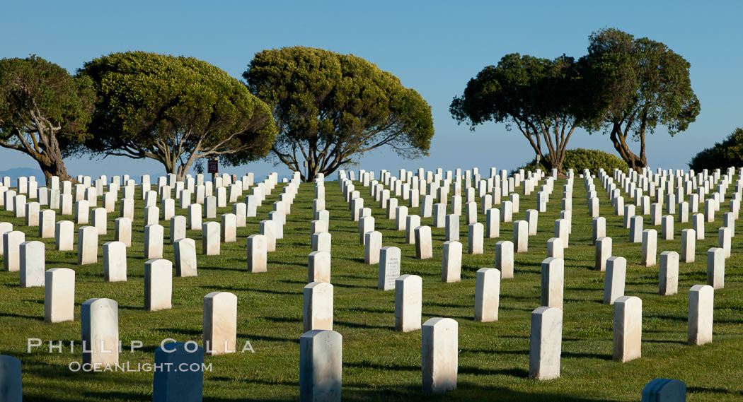 Fort Rosecrans National Cemetery. San Diego, California, USA, natural history stock photograph, photo id 26577