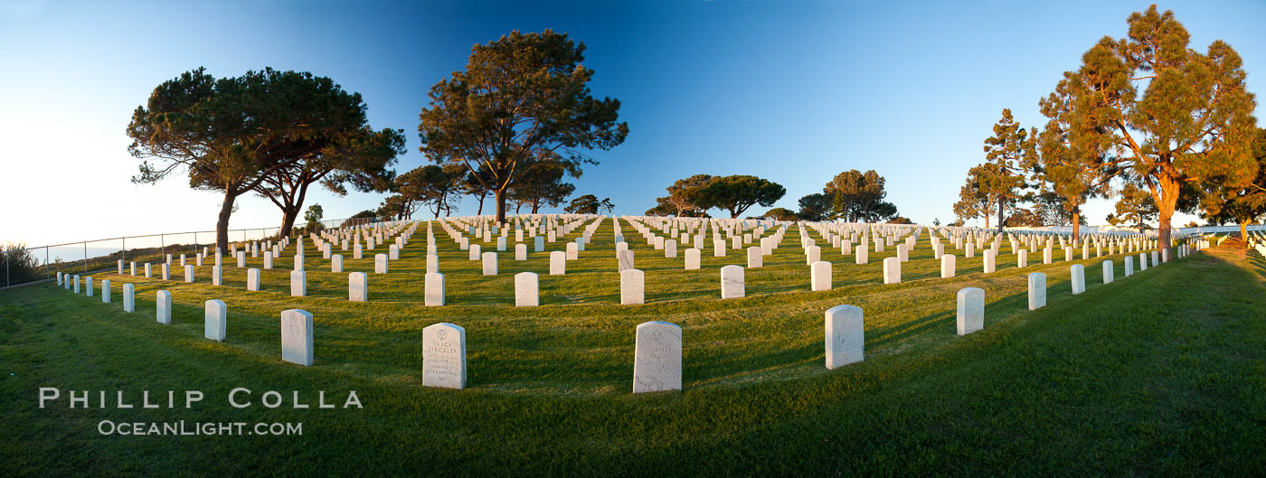 Fort Rosecrans National Cemetery. San Diego, California, USA, natural history stock photograph, photo id 26589