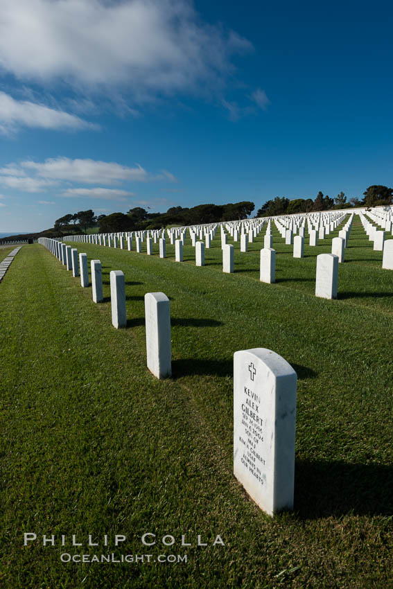 Fort Rosecrans National Cemetery. San Diego, California, USA, natural history stock photograph, photo id 27881