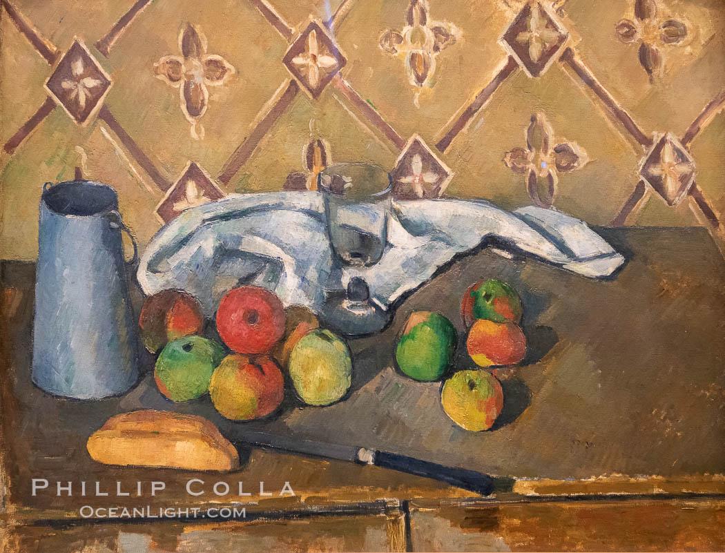 """Fruits, serviette et boite a lait by Paul Cezanne, Musee de l""""Orangerie. Musee de lOrangerie, Paris, France, natural history stock photograph, photo id 35631"""