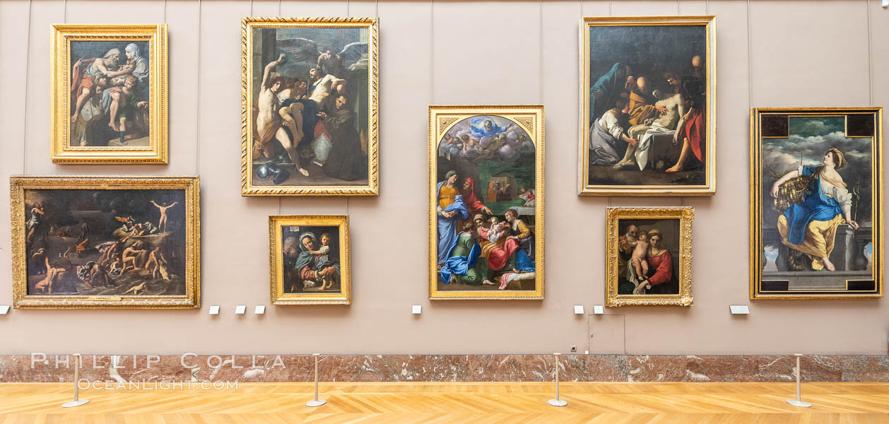 Gallery in the Mus�e du Louvre, Paris. Musee du Louvre, France, natural history stock photograph, photo id 35645