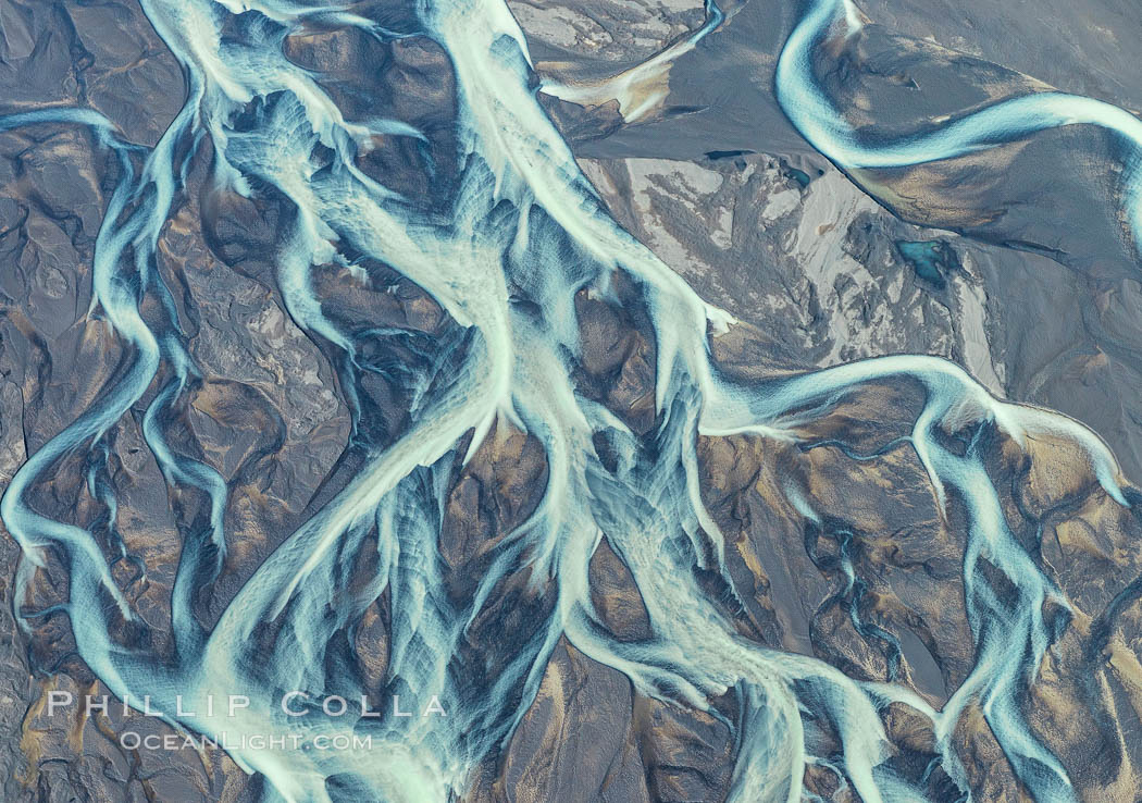 Glacial river, highlands of Southern Iceland