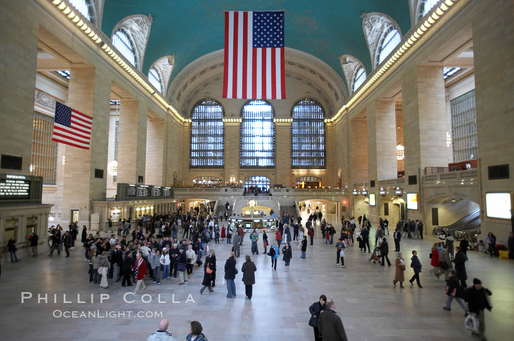 Grand Central Station. New York City, USA, natural history stock photograph, photo id 11172
