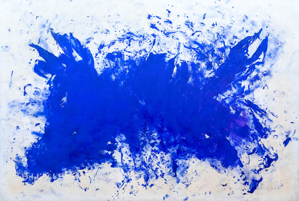 Grande Anthropophagie bleue, Hommage � Tennessee Williams, Yves Klein, 1960, Le Centre Pompidou. Paris. Musee National dArt Moderne, France, natural history stock photograph, photo id 35678