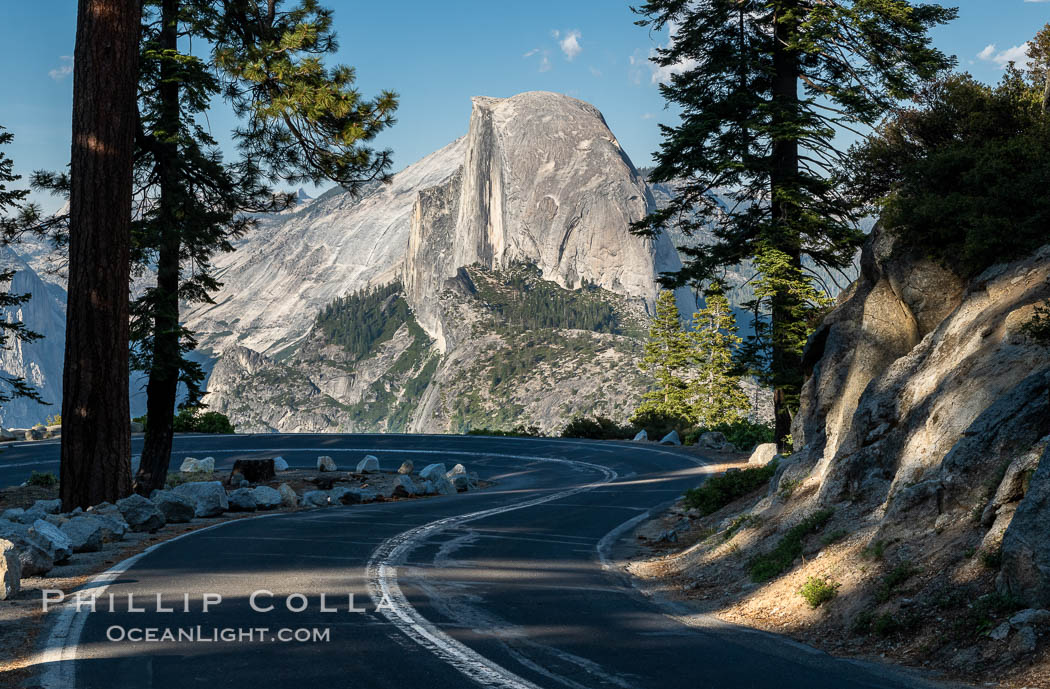 Half Dome and the Glacier Point Road, Yosemite National Park. California, USA, natural history stock photograph, photo id 36379