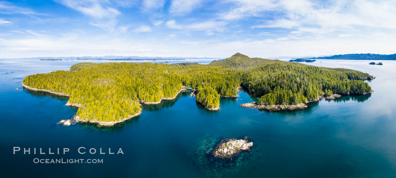 Hurst Island and Gods Pocket Provincial Park, aerial photo