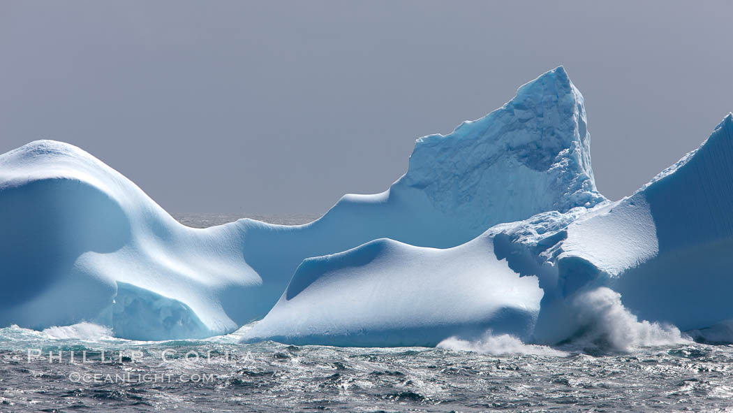 Iceberg detail, at sea among the South Orkney Islands. Coronation Island, Southern Ocean, natural history stock photograph, photo id 24794