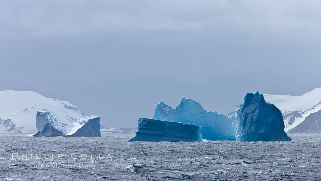 Iceberg detail, at sea among the South Orkney Islands. Coronation Island, Southern Ocean, natural history stock photograph, photo id 24938