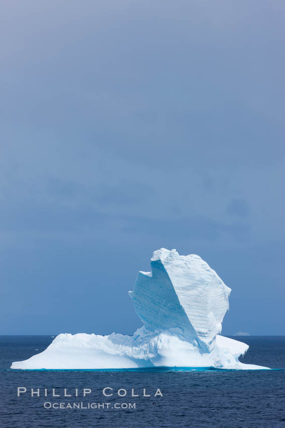 Iceberg, South Orkney Islands. Coronation Island, Southern Ocean, natural history stock photograph, photo id 26355