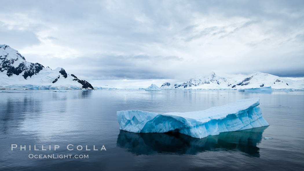 Icebergs in Paradise Bay, sculpted by water and time, Antarctica. Paradise Bay, Antarctic Peninsula, Antarctica, natural history stock photograph, photo id 25657