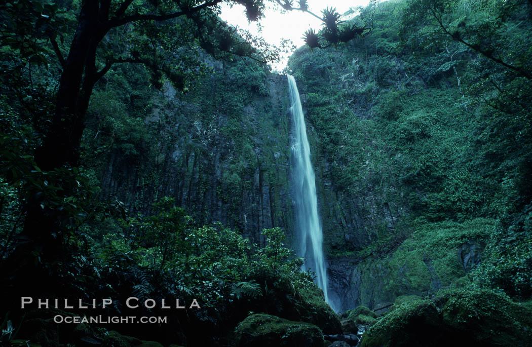 Image 05490, Iglesias Falls, waterfall. Cocos Island, Costa Rica
