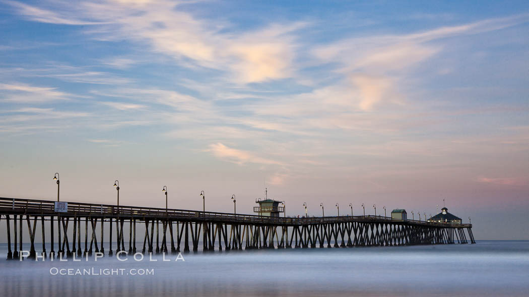 Imperial Beach pier at sunrise, California, USA, natural history stock photograph, photo id 27412