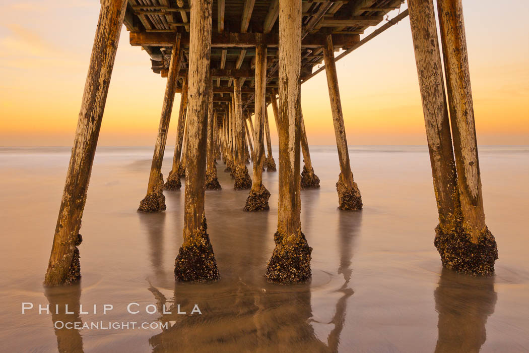Imperial Beach pier at sunrise, California, USA, natural history stock photograph, photo id 27415