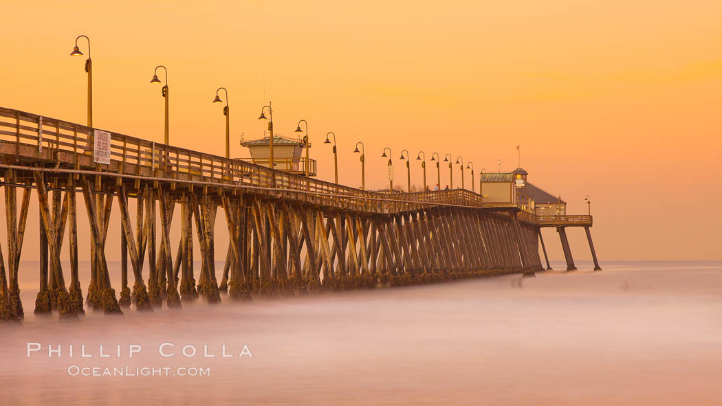 Imperial Beach pier at sunrise, California, USA, natural history stock photograph, photo id 27413