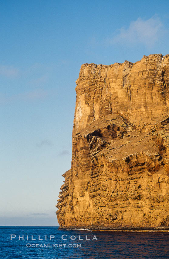 East face of Isla Afuera. Guadalupe Island (Isla Guadalupe), Baja California, Mexico, natural history stock photograph, photo id 06154
