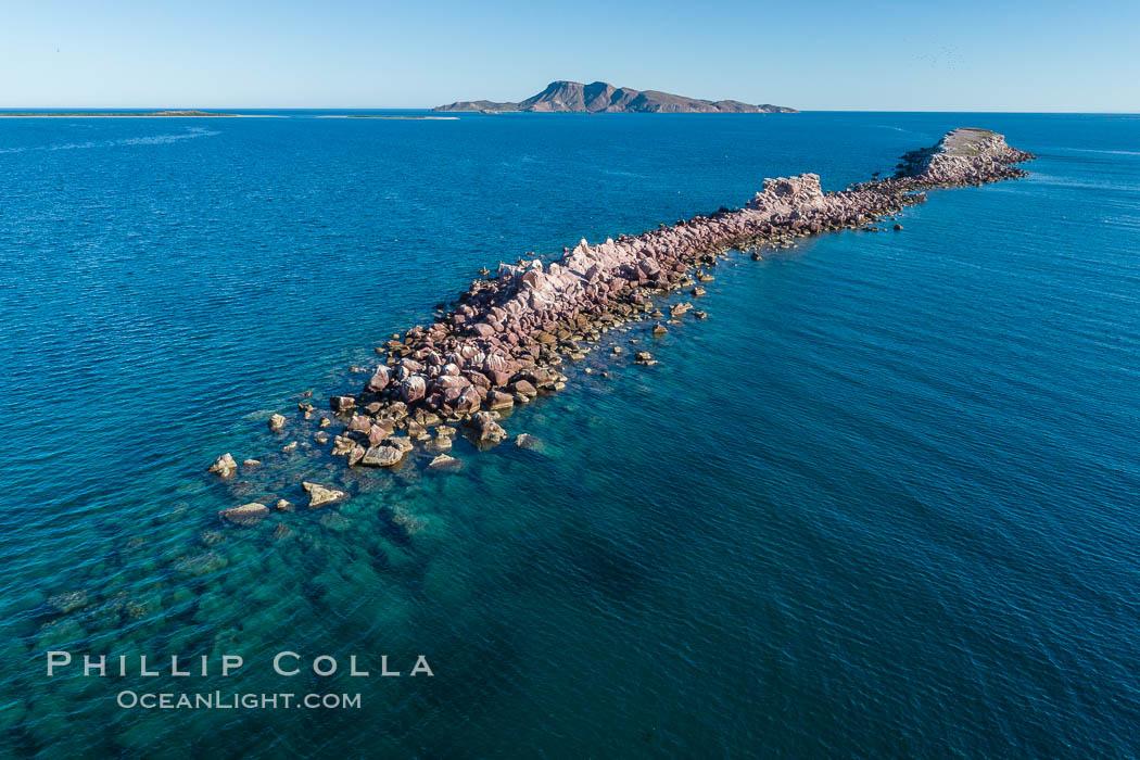 Image 33742, Isla Cayo, Aerial Photo, Sea of Cortez, Baja California. Isla Cayo, Baja California, Mexico
