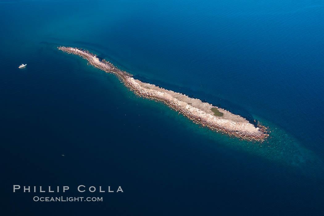 Isla Cayo, Aerial Photo, Sea of Cortez, Baja California. Isla Cayo, Baja California, Mexico, natural history stock photograph, photo id 33744