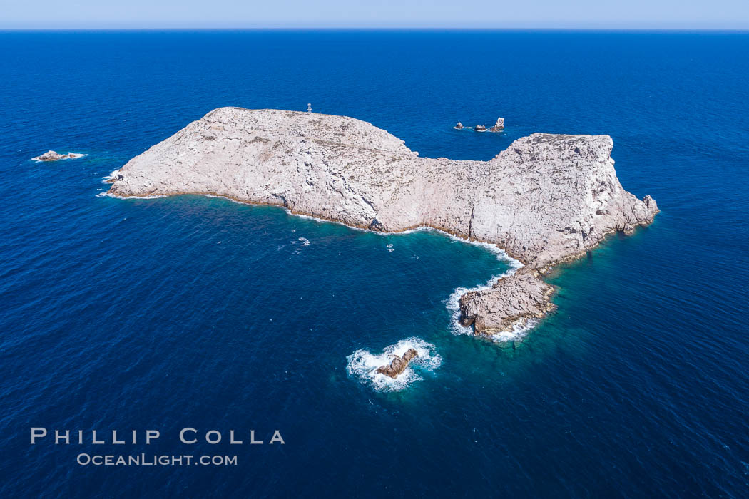 Isla Las Animas, aerial photo, Sea of Cortez. Baja California, Mexico, natural history stock photograph, photo id 33665