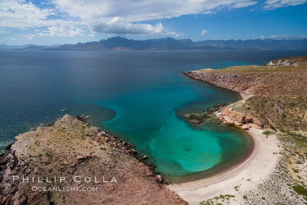 Isla San Francisquito, Aerial Photo, Sea of of Cortez. Isla San Francisquito, Baja California, Mexico, natural history stock photograph, photo id 32438