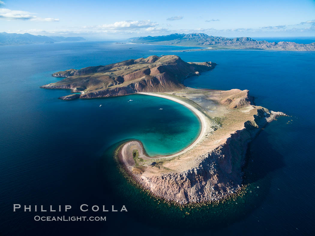 Isla San Francisquito, Aerial Photo, Sea of of Cortez. Isla San Francisquito, Baja California, Mexico, natural history stock photograph, photo id 32440