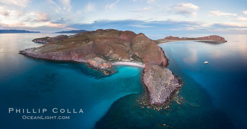 Isla San Francisquito, Aerial Photo, Sea of of Cortez. Isla San Francisquito, Baja California, Mexico, natural history stock photograph, photo id 32415