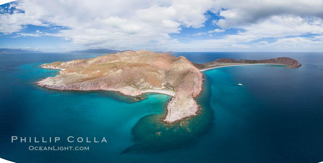 Isla San Francisquito, Aerial Photo, Sea of of Cortez. Isla San Francisquito, Baja California, Mexico, natural history stock photograph, photo id 32439