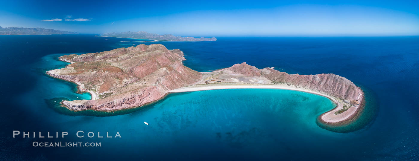 Isla San Francisquito, Aerial View, Sea of Cortez. Isla San Francisquito, Baja California, Mexico, natural history stock photograph, photo id 33630