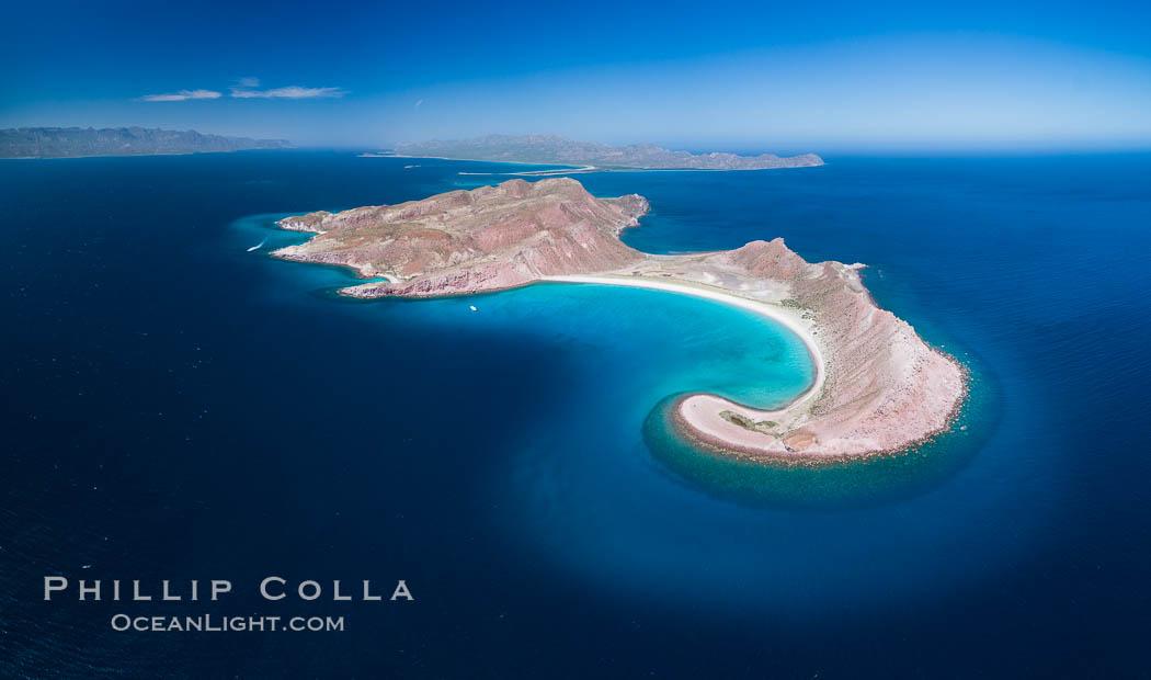 Isla San Francisquito, Aerial View, Sea of Cortez. Isla San Francisquito, Baja California, Mexico, natural history stock photograph, photo id 33628
