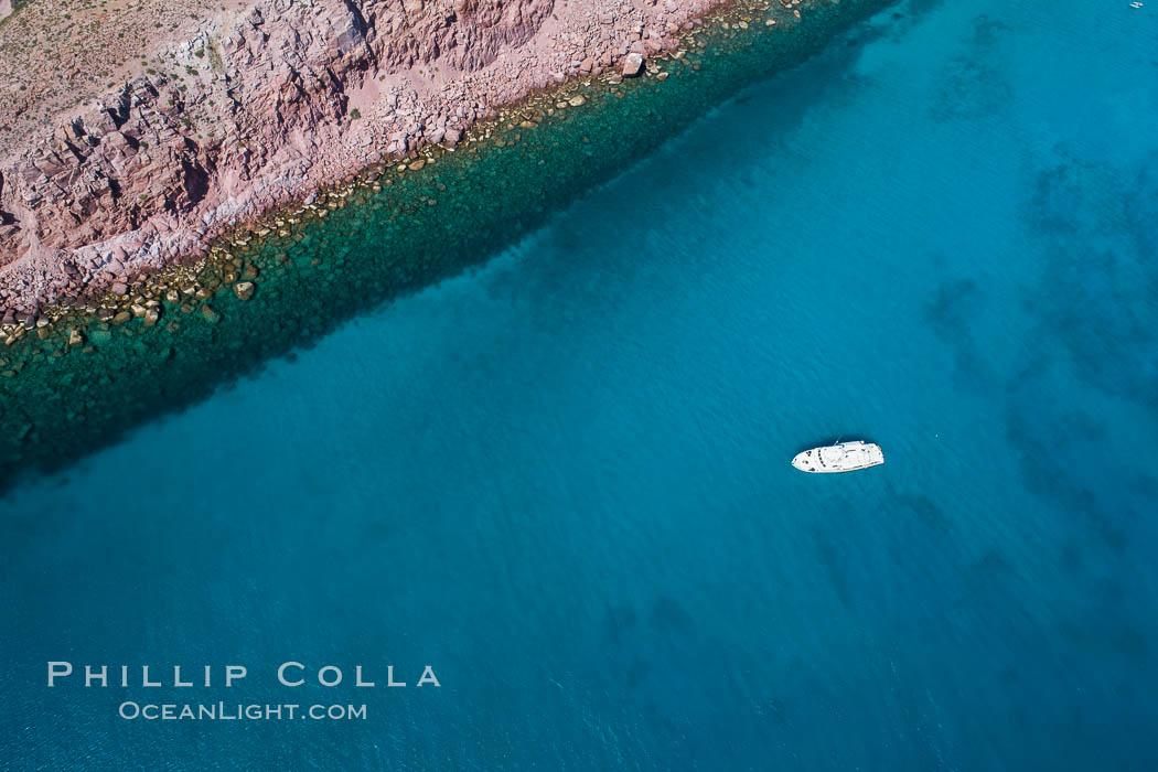 Isla San Francisquito, Aerial View, Sea of Cortez. Isla San Francisquito, Baja California, Mexico, natural history stock photograph, photo id 33631