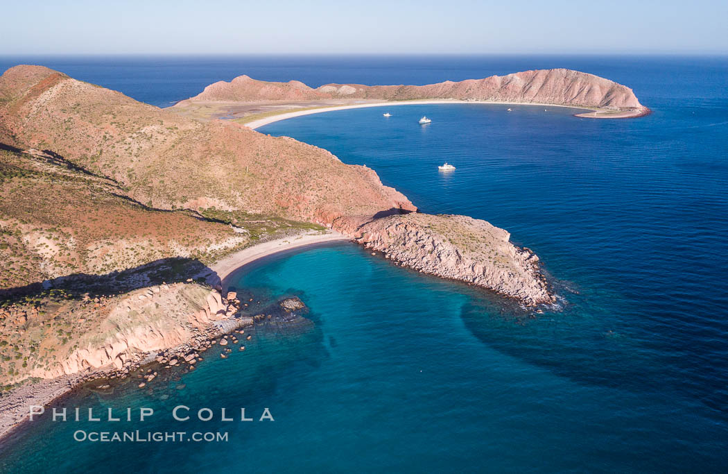Isla San Francisquito, Aerial View, Sea of Cortez. Isla San Francisquito, Baja California, Mexico, natural history stock photograph, photo id 33643