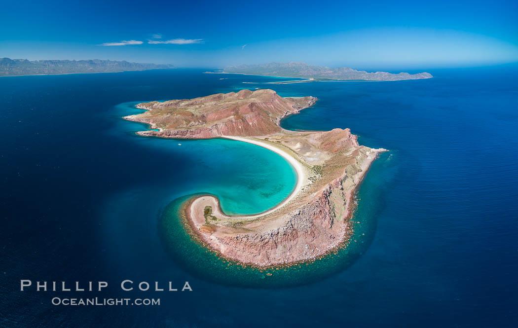 Isla San Francisquito, Aerial View, Sea of Cortez. Isla San Francisquito, Baja California, Mexico, natural history stock photograph, photo id 33629