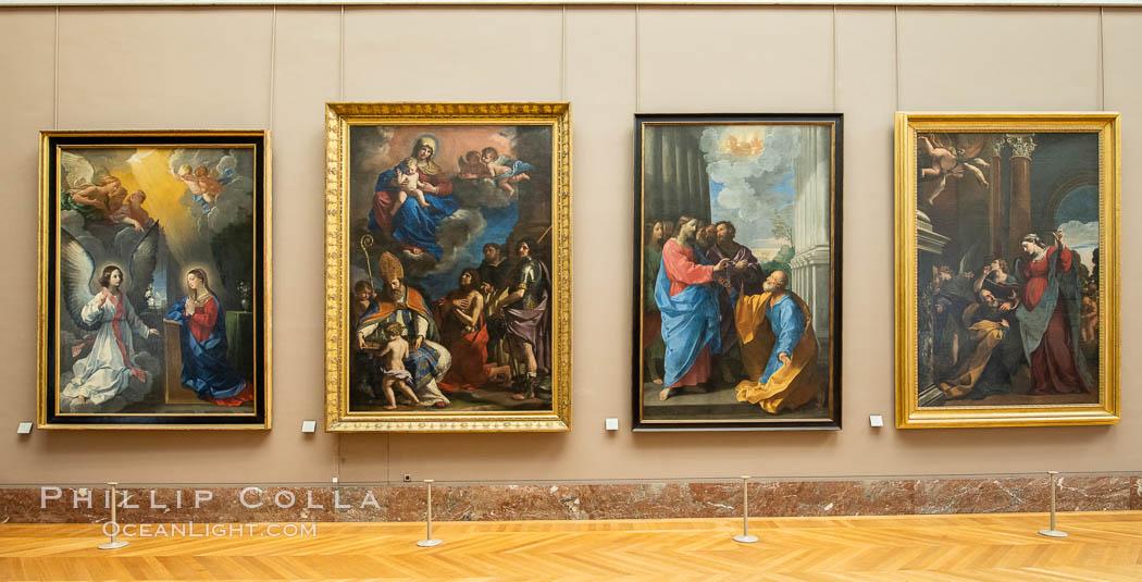 Italian Gallery artwork, Mus�e du Louvre. Musee du Louvre, Paris, France, natural history stock photograph, photo id 35702