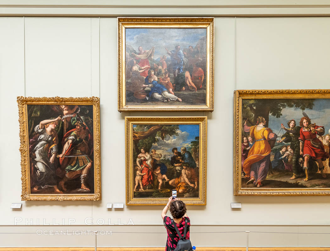 Italian Gallery artwork, Mus�e du Louvre. Musee du Louvre, Paris, France, natural history stock photograph, photo id 35710