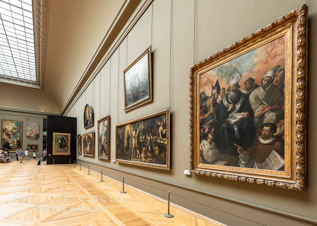Italian Gallery artwork, Mus�e du Louvre. Musee du Louvre, Paris, France, natural history stock photograph, photo id 35704