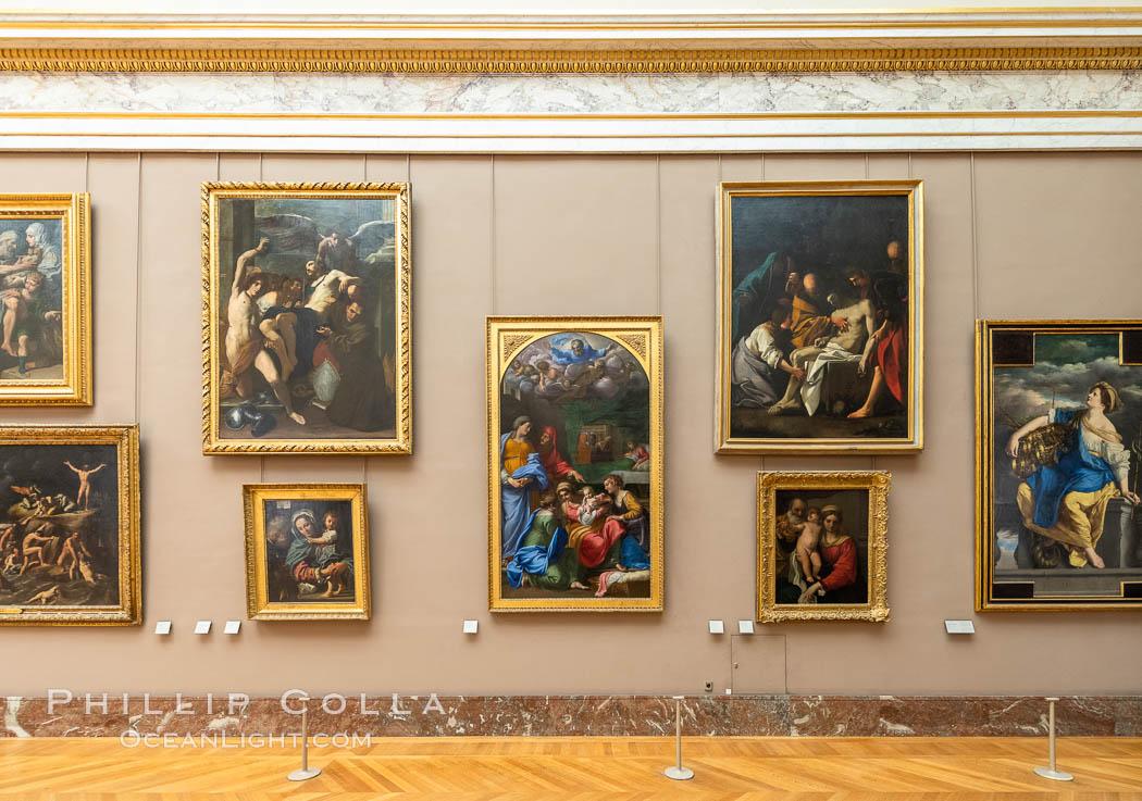 Italian Gallery artwork, Mus�e du Louvre. Musee du Louvre, Paris, France, natural history stock photograph, photo id 35712
