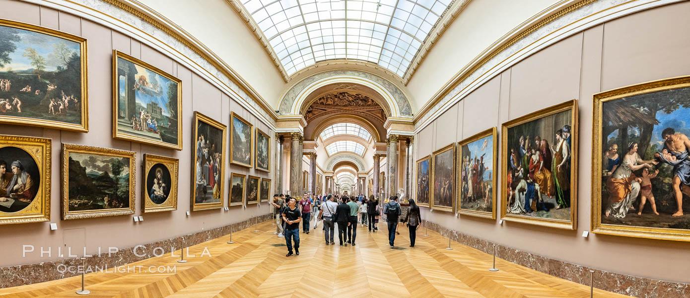 Italian Gallery artwork, Mus�e du Louvre. Musee du Louvre, Paris, France, natural history stock photograph, photo id 35637
