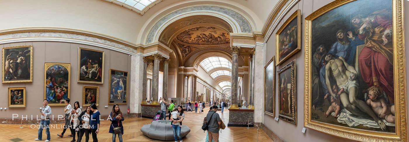 Italian Gallery artwork, Mus�e du Louvre. Musee du Louvre, Paris, France, natural history stock photograph, photo id 35701