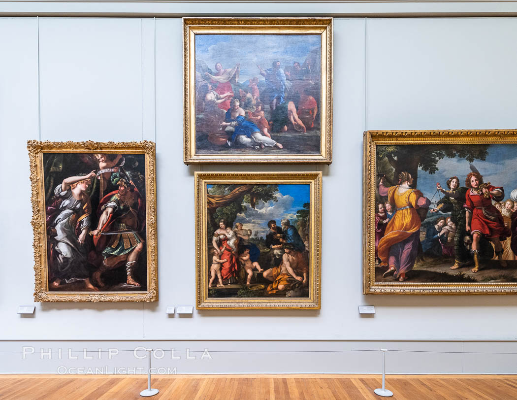 Italian Gallery artwork, Mus�e du Louvre. Musee du Louvre, Paris, France, natural history stock photograph, photo id 35709
