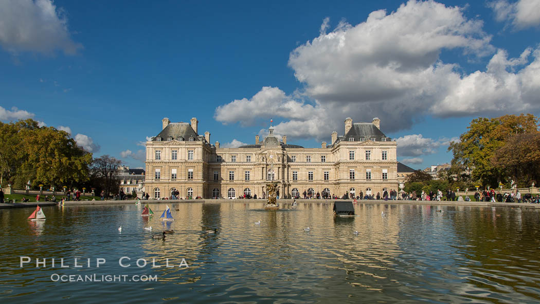 Jardin du Luxembourg.  The Jardin du Luxembourg, or the Luxembourg Gardens, is the second largest public park in Paris located in the 6th arrondissement of Paris, France. The park is the garden of the French Senate, which is itself housed in the Luxembourg Palace. Jardin du Luxembourg, Paris, France, natural history stock photograph, photo id 28181