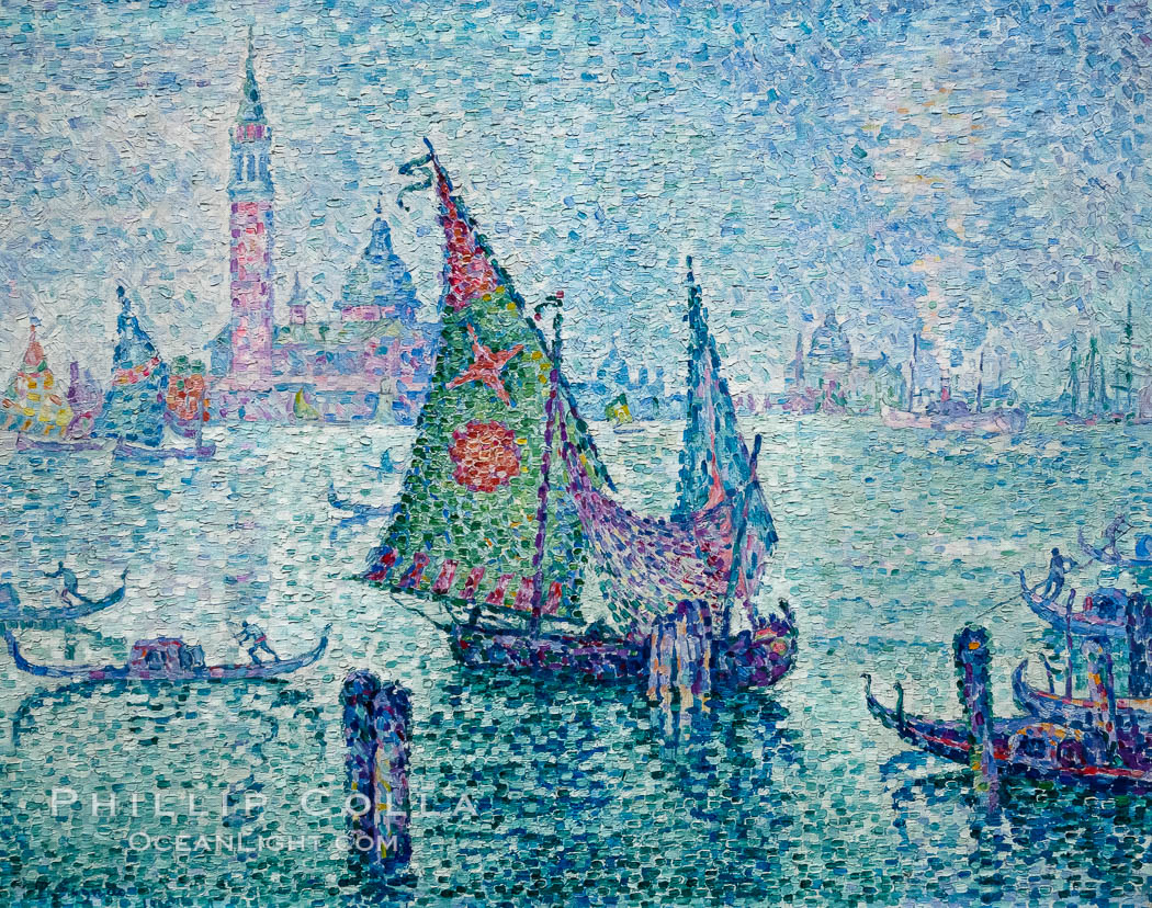 Image 35617, La Voile Verte, 1904, Paul Signac, Musee d'Orsay, Paris. Musee dOrsay, France, Phillip Colla, all rights reserved worldwide. Keywords: art, france, musee, musee d orsay, museum, orsay, paris, paul signac, signac.