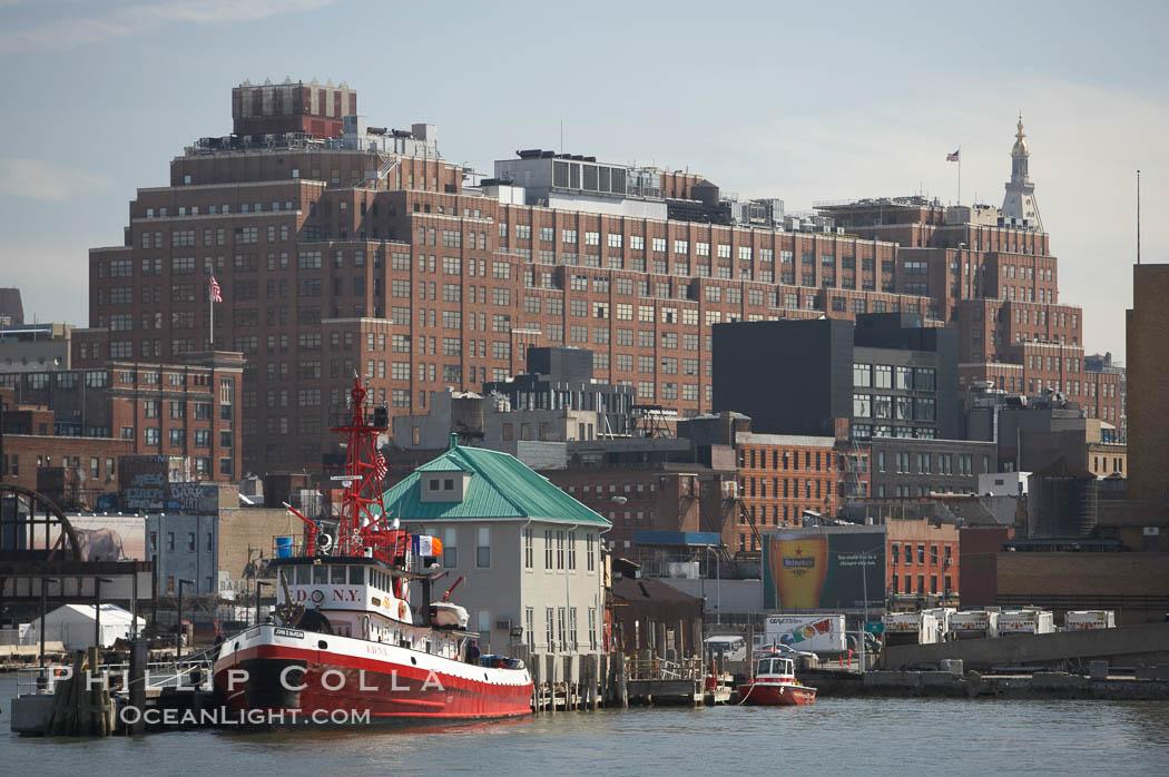 Manhattan waterline. Manhattan, New York City, New York, USA, natural history stock photograph, photo id 11104