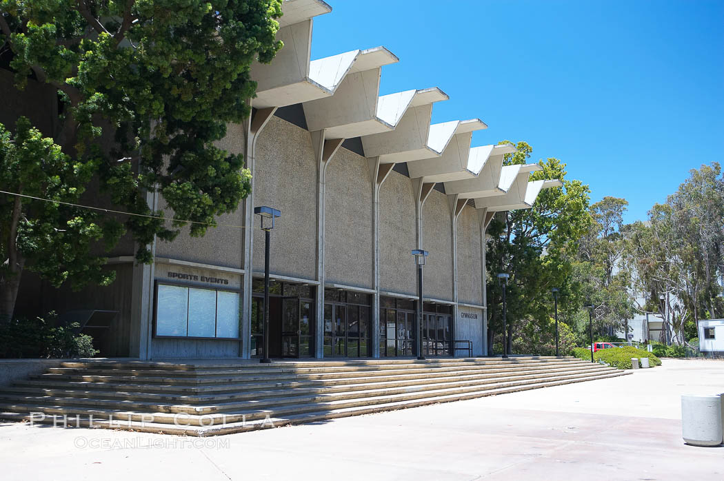 Main Gymnasium, University of California San Diego (UCSD). University of California, San Diego, La Jolla, California, USA, natural history stock photograph, photo id 12850