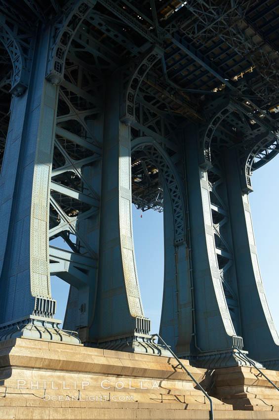 Image 11056, Manhattan Bridge viewed from Brooklyn. Manhattan Bridge, New York City, New York, USA