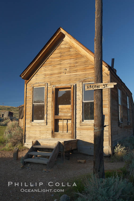 McMillan House, Green Street and Wood Street. Bodie State Historical Park, California, USA, natural history stock photograph, photo id 23138